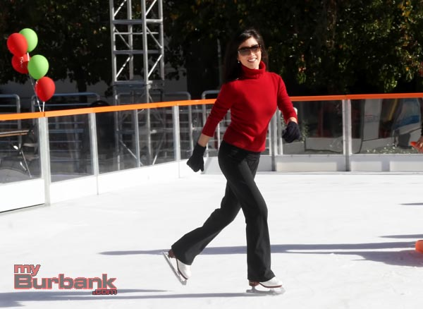 Olympian Kristi Yamaguchi skates during her visit at  The Rink on Wednesday. (Photo by Ross A. Benson)