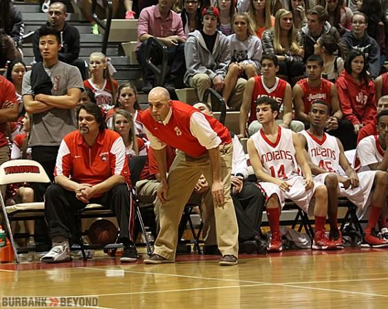Burroughs coach Adam Hochberg