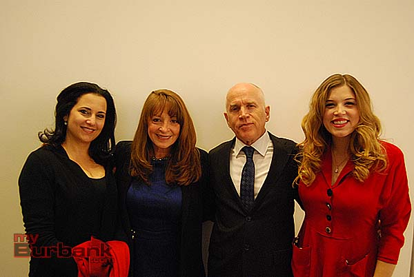 Violinist Julie Gigante (who presented the award), Christine DeMore, David DeMore and Ella DeMore at the pre-gala reception. (Photo By Lisa Paredes)