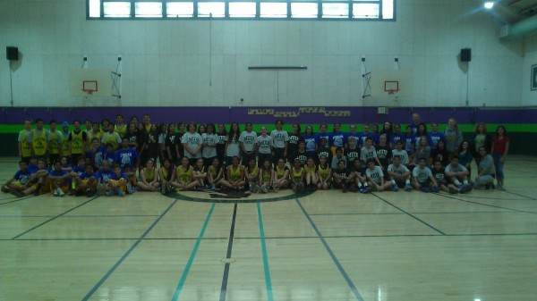 Muir, Jordan and Luther Middle Schools came together to play basketball and create new friendships (Photo courtesy of Doug Nicol)