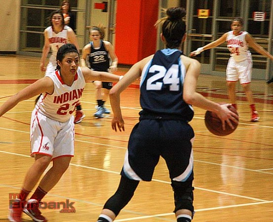Paula Galicia, #23, scored 22 points to lead the Indians (Photo by Dick Dornan)