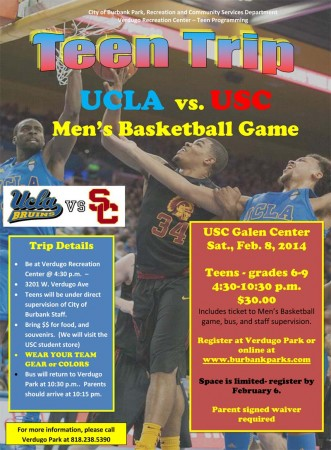 UCLA-vs-USC Teen Trip 2014