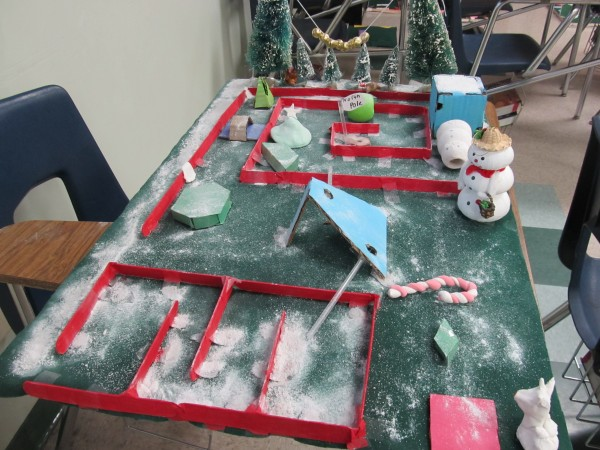 One of the class-selected winners of Muir Middle School's Geometry class Mini-Golf project. (Photo Courtesy of Muir Middle School)