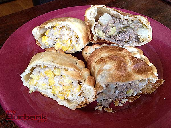 Corn empanada and Beef empanda. (Photo By Lisa Paredes)