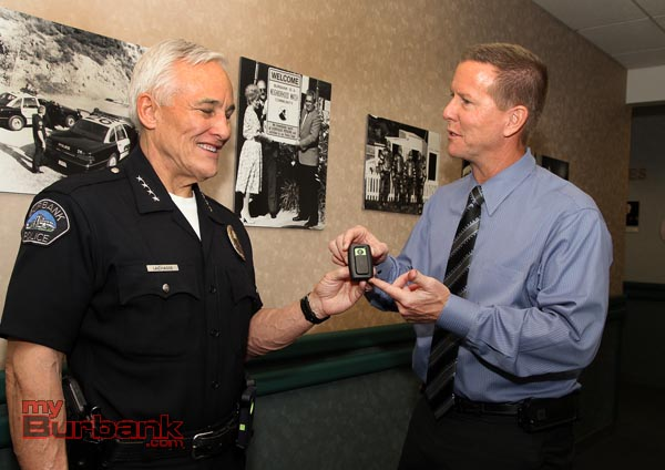 New body camera that other police departments are starting to use.( Photo by Ross A. Benson)