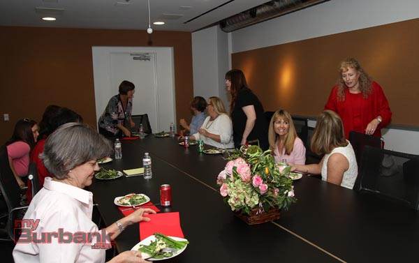 Guests of Zita Lefebvre of Cartoons Networks Valentines Day Lunch. ( Photo by Ross A. Benson)