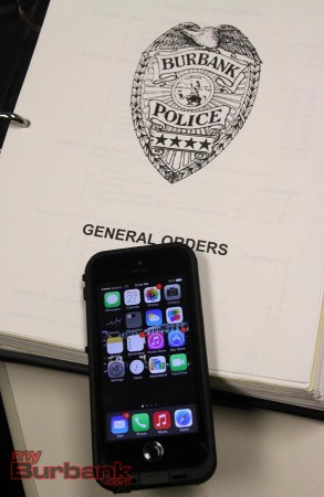New I Phones that Detectives have currently been issued. (Photo by Ross A. Benson)