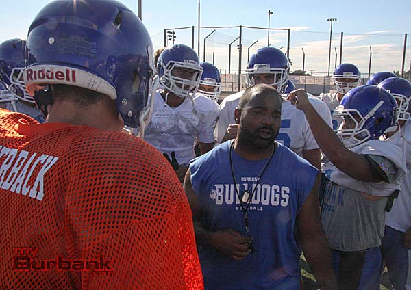 Richard Broussard takes over as head coach for Burbank football (Photo by Dick Dornan)