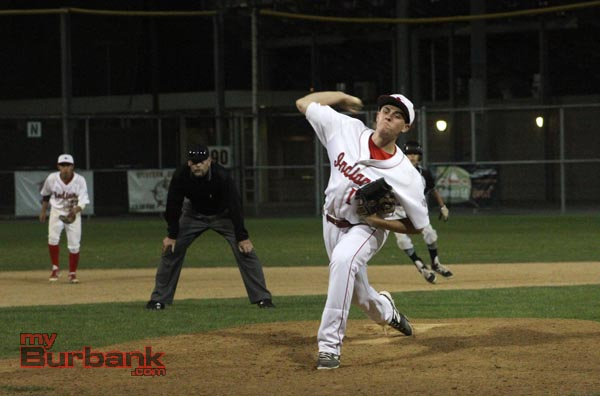 The Indians' Thomas Wilson stepped up and threw a strong outing in game two (Photo by Ross A. Benson)