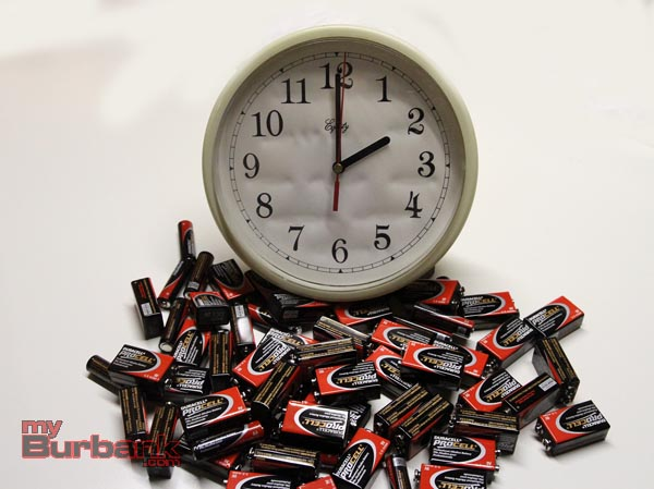 Clock & Batteries -1