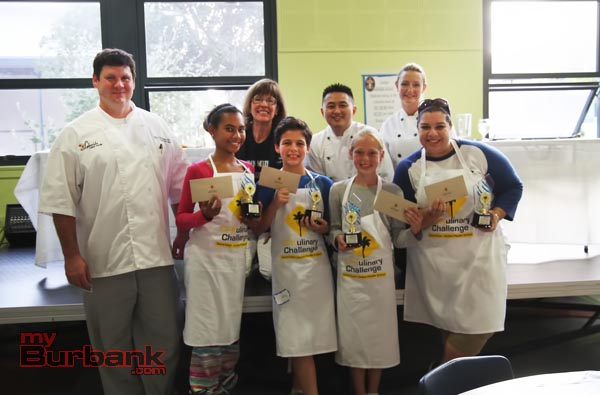 The first place team, the MisChefs, at the CPKulinary Challenge. (Photo by Ross A. Benson)