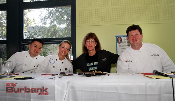 Judges (from left to right) include Chef Kong, Chef Jenny Howard, Mayor Emily Gabel-Luddy and Chef Neil. (Photo by Ross A. Benson)