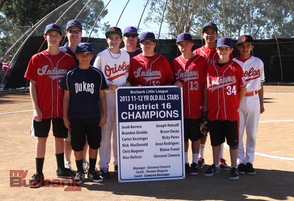 BLL 11-12 yr-old All-Stars District 16 Champions (Photo by Ross A. Benson)
