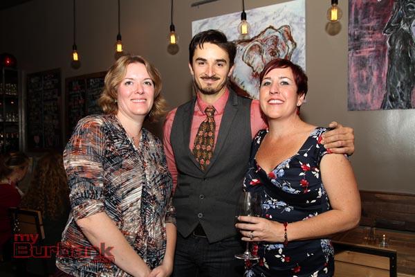 Jennifer Raim, Nick Caballero and Shannan VerGow celebrate Luna Vine Wine Bar's Grand Opening.  (Photo By Ross Benson)