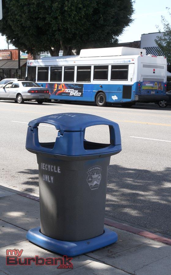 Burbank Recycling Center >> Magnolia Boulevard Sees First Of Burbank's Recycling Bins - myBurbank.com