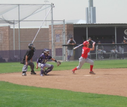 Max DeAmicis singles to centerfield to drive in the game winning run (Photo courtesy of Ivan Galan)