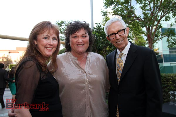 Alexandra Helfrich with Dot Marie Jones of Glee fame and Fritz Coleman at last years Burbank Arts For All 'Party on the Plaza' (Ross A. Benson)