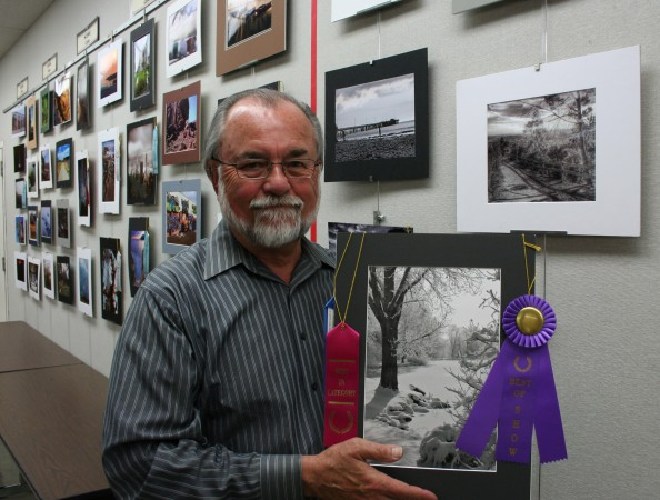 Best of Show winner Richard Nelson at Friends of the Burbank Public Library 2014 Photo Contest Awards Reception. (Photo Courtesy of Joan Cappocchi)