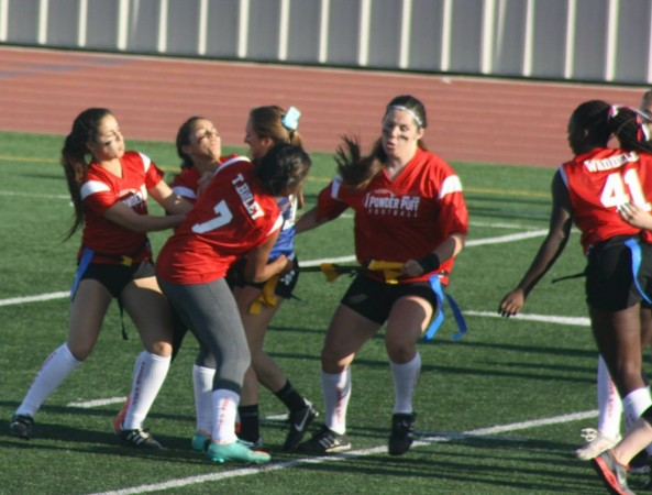 The Lady Indians swarmed the Lady Bulldogs on defense (Photo courtesy of Aimee Rodriguez)