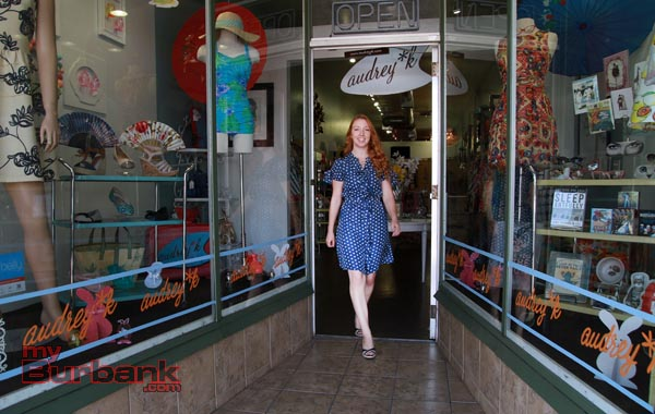 Ashley Erickson stands in the doorway of Magnolia Park boutique Audrey K. (Photo by Ross A. Benson)