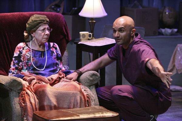 Mindy Sterling and Usman Ally star in the West Coast Premiere of THE LAST ACT OF LILKA KADISON, directed by Dan Bonnell and now playing at the Falcon Theatre in Burbank. (Michael Lamont)