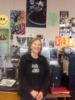 Peggy Zirves in her classroom at Monterey High. (Photo Courtesy of Burbank Arts For All)