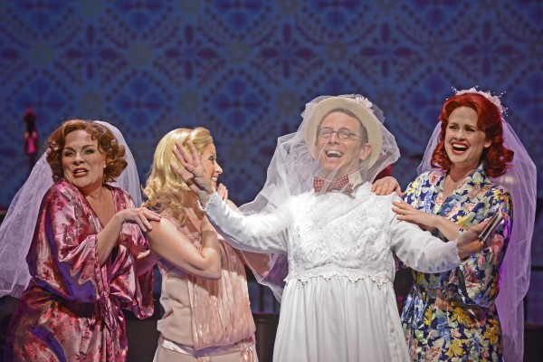 """Rebecca Spencer, Ashley Fox Linton, Jeff Skowron and Rebecca Ann Johnson star in Musical Theatre West's West Coast Premiere production of """"S'WONDERFUL,"""" created and directed by Ray Roderick and now playing at the Carpenter Center for the Performing Arts in Long Beach.  (Caught in the Moment Photography)"""
