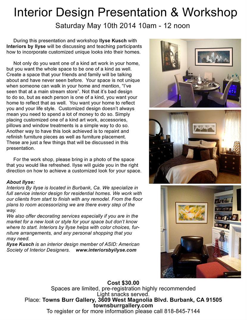 Interior design workshop print flyer for Interior design workshop