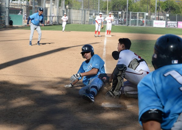 Crescenta Valley slid by Burroughs in a Pacific League showdown (Photo courtesy of Mitch Haddad)