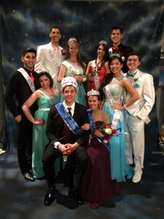 Joseph Servin: Prom King (front row) alongside girlfriend and Prom Queen Brianna Krejsa