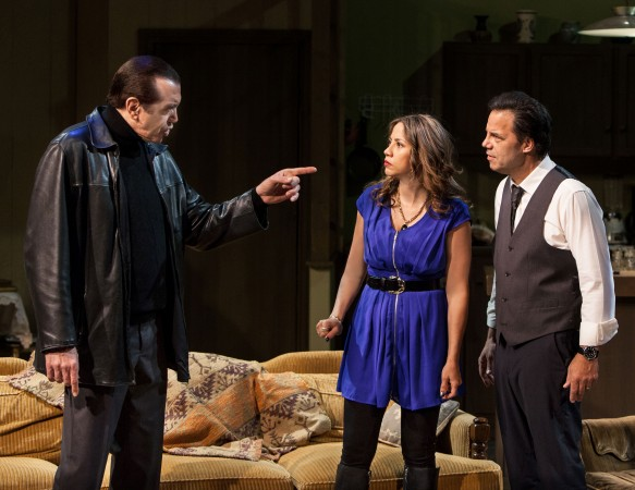 "Chazz Palminteri, Elizabeth Rodriguez and Kenny D'Aquila star in the World Premiere play ""UNORGANIZED CRIME""  (Daniel Reichert)"