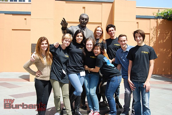 Young Movie Makers mentors from John Burroughs High School. (Photo By Lisa Paredes)