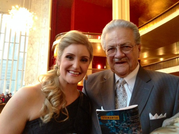 Soprano Julie Adams with her grandfather, Daniel Savant. (Photo Courtesy of the Adams Family)