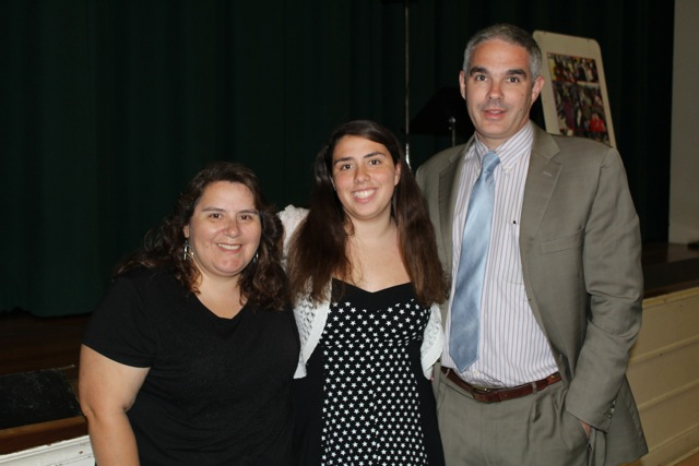 Cheyenne with her parents, Lucy and Dione Castro. (Photo Courtesy of McKinley Alumni Scholarship Committee)