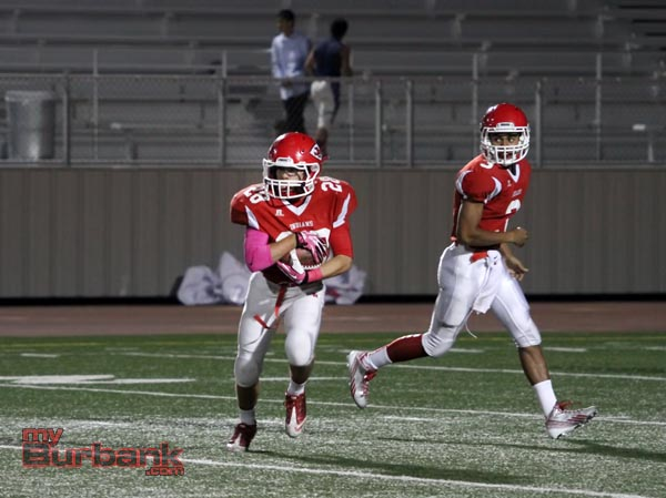 Burroughs' Michael Ospina will look to lead the Indians into a successful football season (Photo by Ross A. Benson)