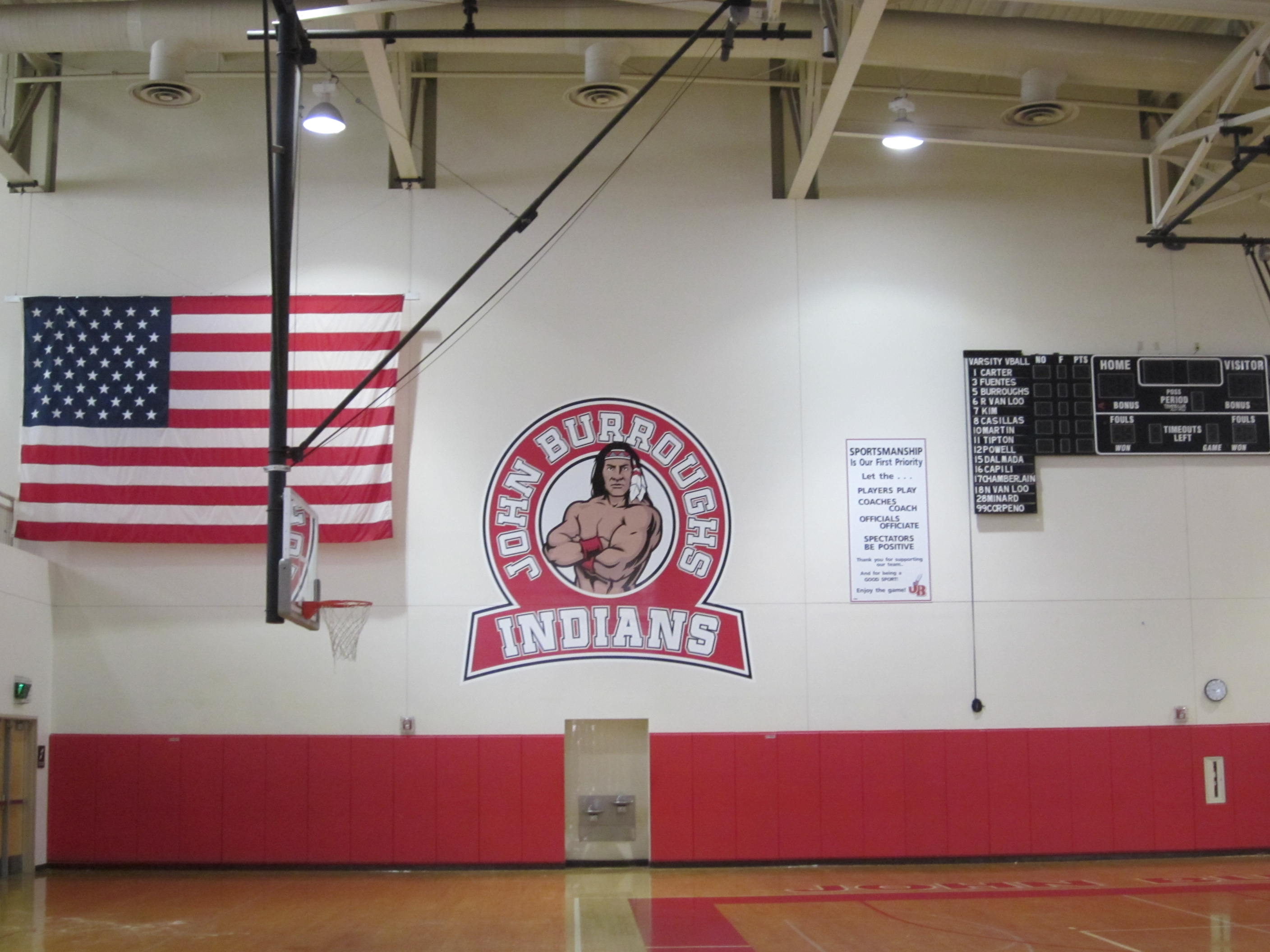Indian Emblem Returns to the Burroughs High School Gym Wall ...