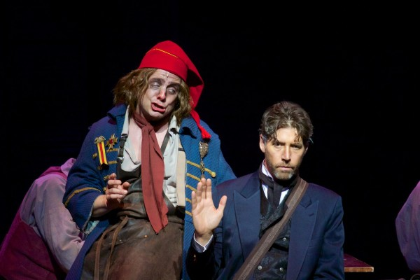 Jeff Skowron and James Barbour star in the LA MIRADA THEATRE FOR THE PERFORMING ARTS/McCOY RIGBY ENTERTAINMENT production of LES MISERABLES, directed by Brian Kite and now playing at LA MIRADA THEATRE FOR THE PERFORMING ARTS. (Photo Courtesy Micheal Lamont)