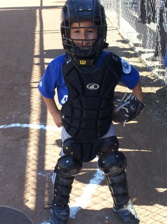 Catcher Jacob Angel loves baseball. (Photo Courtesy of Tony Angel)