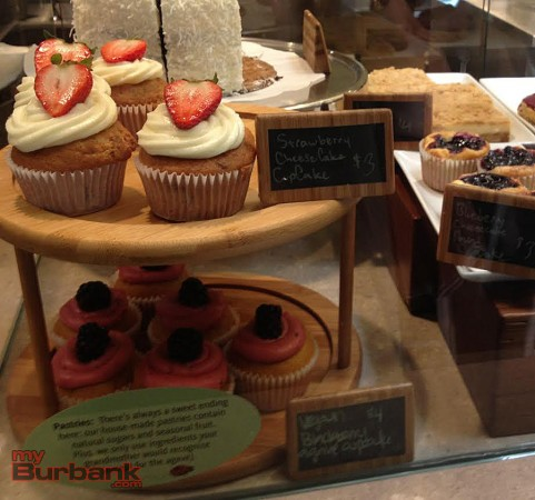 Tender Greens' dessert case features fruity sweets, gluten-free options and chocolate cake. (Photo By Lisa Paredes)