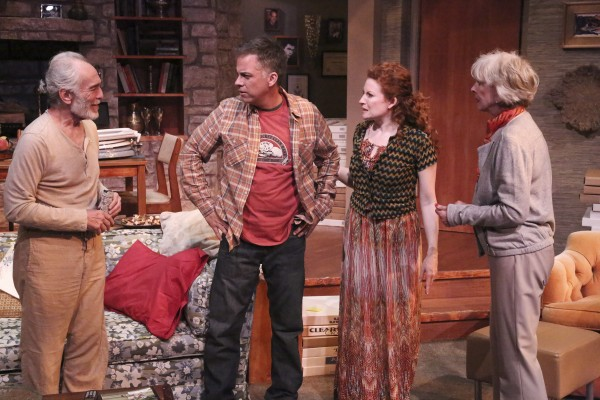 "Bruce Weitz, Jack Sundmacher, Dee Ann Newkirk and Christina Pickles star in the Colony Theatre's World Premiere production of ""FAMILY PLANNING,""  (Photo Courtesy of Michael Lamont)"