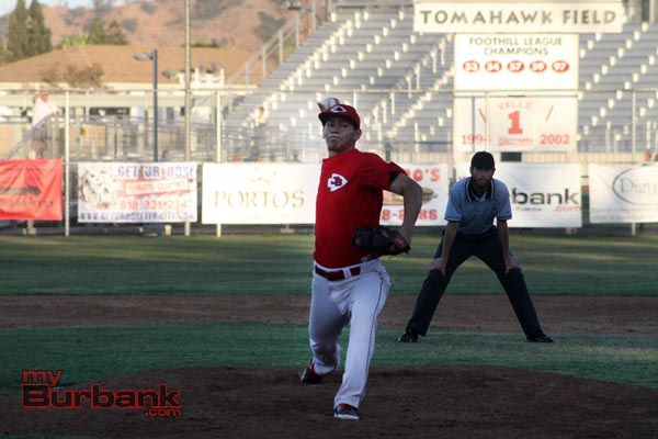 Danny Bustos struck out 11 Bulldog batters (Photo by Ross A. Benson)