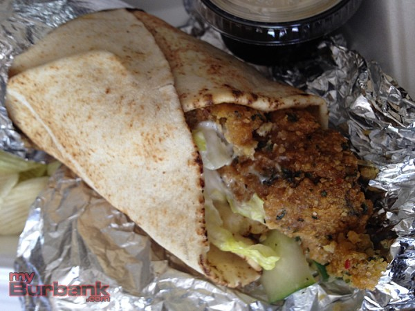 The classic Falafel Wrap at Healthy Bites may be the best in the City of Burbank. (Photo By Lisa Paredes)