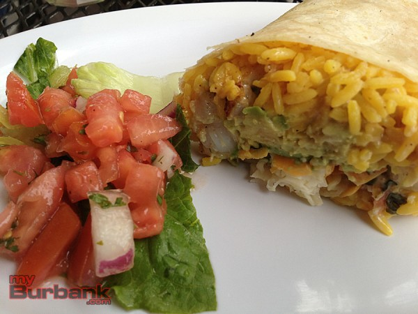 Tender, tasty and succulent lobster fills this flavorful burrito at La Bamba.  (Photo By Lisa Paredes)