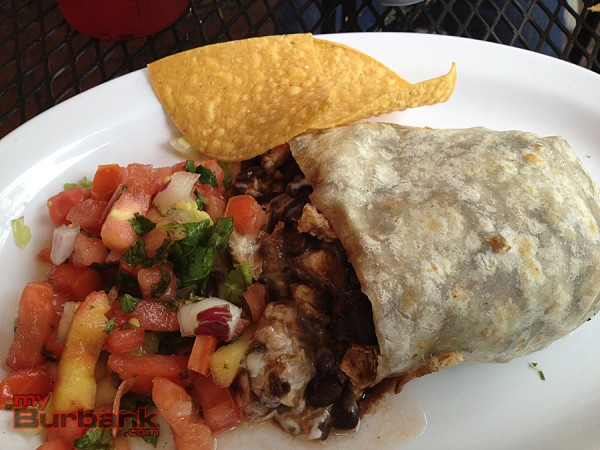La Bamba's Key Largo Chicken Burrito combines Caribbean flavors into a tasty meal.  (Photo By Lisa Paredes)