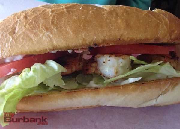 Sharkey's Shrimp PoBoy. (Photo By Lisa Paredes)