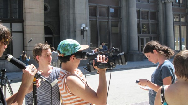 Joe Molinari directs his film. (Photo Courtesy of Young Storytellers Foundation)