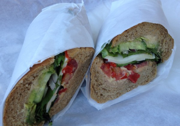 "The Veggie sub typically comes on a 10"" whole wheat roll. (Photo By Lisa Paredes)"
