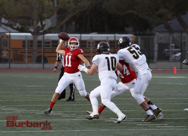 Andy Amela had a productive start to his high school career at QB (Photo by Ross A. Benson)