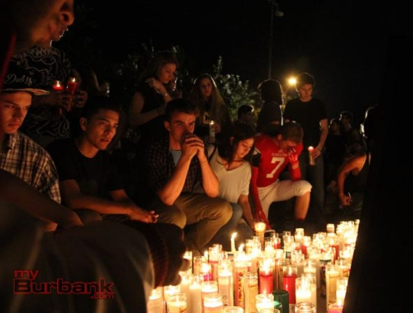 Tears, hugs, hurt, disbelief,and pure love resonated at the vigil (Photo by Ross A. Benson)