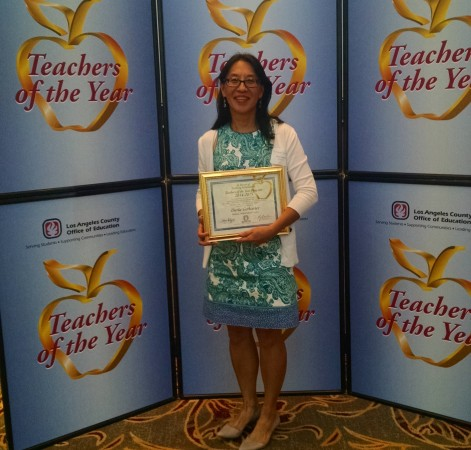 Burbank Unified Teacher of the Year Darla Gerharter was honored by the L.A. County Office of Education. (Photo Courtesy of Darla Garharter)